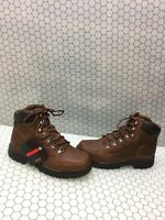 """Wolverine POTOMAC 6"""" Brown Leather Lace Up Waterproof Work Boots Men's Size 8 M"""