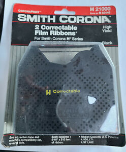 NEW OLDSTOCK TWIN PACK Smith Corona H Series Correction Typewriter Ribbon H21000