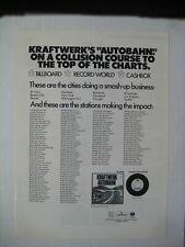 """KRAFTWERK Autobahn rare 1975 original 10x14"""" print album LP CD promo ad"""