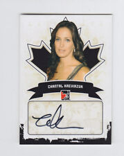 2011 In the Game Canadiana Autographs CHANTAL KREVIAZUK Auto #A-CK2