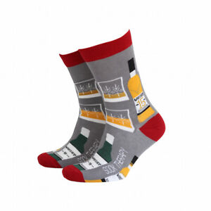 Mens Whisky Alcohol Bamboo Gift Socks from Sock Therapy by Smiling Faces