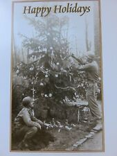 Lot (5) Holiday Christmas Holiday Cards Retro Combat Soldier Deployed Servicemen