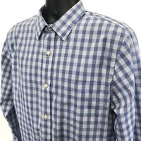 Banana Republic SLIM FIT Shirt Mens Sz L Large Blue Non Iron Tailored Button Up