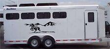 Horses & Mountains Landscape Horse Trailer Truck Decal Equestrian Sticker