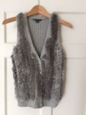 Beautifully Soft Fur Gilet/waistcoat. Grey. XS