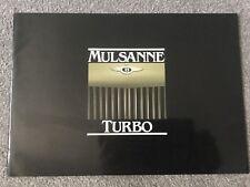Bentley Mulsanne Turbo Brochure in Excellent condition