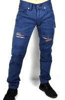 True Religion $199 Men's Geno Slim Destroyed/Mended Jeans - MDBJ19N20N