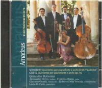 SCHUBERT GOETZ QUINTETTO PIANOFORTE Quintetto Bottesini CD Audio Abbinam Amadeus