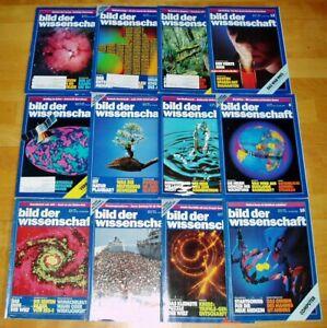 12x Bild der Wissenschaft 1992 1-12 Jahrgang Sammlung Zeitschrift Science Hefte