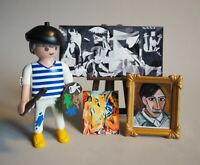 PLAYMOBIL Pintor Picasso Custom Figure Exclusive Painter Paint . NUEVO / NEW