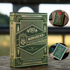 Monarchs Theory 11 Playing Cards Deck Green Magic Tricks Poker Size Sealed New