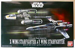 Star Wars Bandai 1/144 X-WING STARFIGHTER & Y-WING STARFIGHTER Model Kit NEW