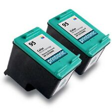 2pk Printronic For HP 95 C8766WN COLOR Ink Cartridge