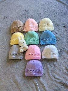 NEW BABY HAND KNITTED NEWBORN HAT