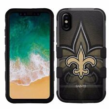 for Apple iPhone X (Ten) Armor Impact Hybrid Cover Case New Orleans Saints #NBG