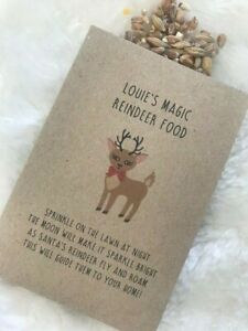 Personalised Magic Reindeer Food Seed Packet Christmas Eve Box Wildlife Friendly