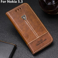For Nokia 5.3 Phone Case Pu Leather Flip Wallet Stand Holder Back Cover Skin