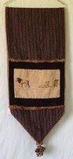 """Lion Pride Table Runner Tapestry Lined Corded Tassels 70"""" Long 16"""" Wide"""