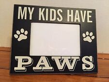 """Home Decor Picture Frame Pets Shelf Desk Wall Freestand Black Wood 4x6"""" Opening"""