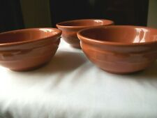 3 Longaberger Pottery Woven Traditions Spice All Purpose Cereal Bowl 6""