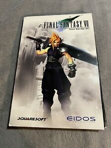 Final Fantasy VII (PC, 1998) 4 Disc With Manual FF7 Rpg