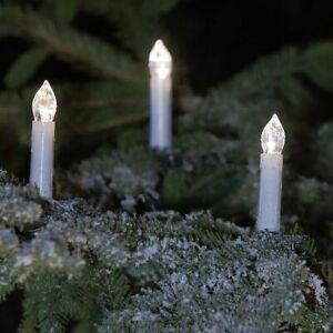 Kerzen-Lichterkette außen 30 LED-Kerzen Weihnachtsbaumbeleuchtung Strom Kabel