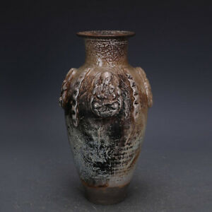 antique China Tang Dynasty Yinguang Kiln Gold and silver glaze Guanyin bottle