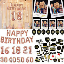 21st 18/30/40/50th Birthday Party Balloons Banner Photo Booth Selfie Props Frame