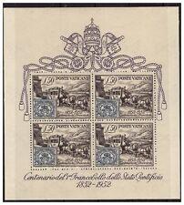 Vatican 1952 Sheet of Stamps Centenary Spl