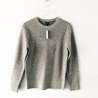 J. Crew Men's Lambswool Jacquard Sweater Shade of Gray Navy Size Small E0671