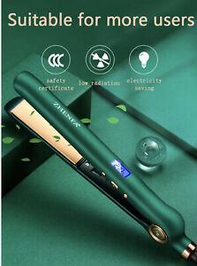 Professional Hair Straighteners Irons Lock Digital LCD Display Salons UK Plug