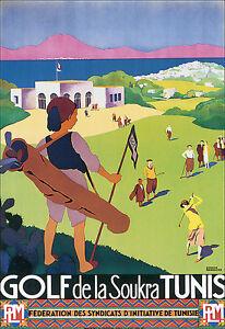 Art Poster - Golf de la Soukra - Tunis - Tunisia Travel Vacation A3 Print