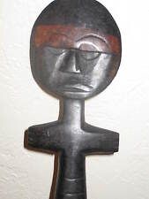 "ORNATE AFRICAN 12"" CARVED WOOD TRIBAL STATUE DOLL*LIKELY GHANA*FINE DISPLAY ART"