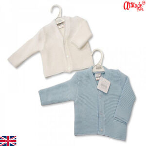 Baby Boys Cardigans-Knitted Baby Cardigans-100% Acrylic Sizes:6 Mths To 24 Mths