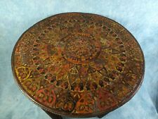 Early UNUSUAL Folding Anglo-Indian  TABLE Brass Tea Coffee Vintage