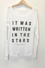 SPIRITUAL GANGSTER WOMENS L/S TOP IT WAS WRITTEN IN THE STARS WHITE SMall USA **
