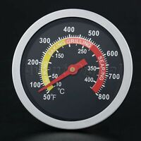 """2-3/8"""" Face 800℉ Thermometer Temperature Gauge BBQ Barbecue Grill Smoker Tools"""