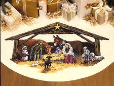 Cross Stitch Kit ~ Gold Collection Nativity Scene Christmas Tree Skirt #8814