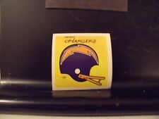 1977 NFL Football Helmet Sticker Decal San Diego Chargers Sunbeam Bread