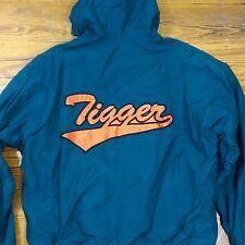 Disney Store Size XL Tigger Jacket Mens Green Teal Spell Out