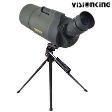 Spotting Scope Monocular Telescope 25-75x70mm Angled Zoom Tripod Soft Case Green