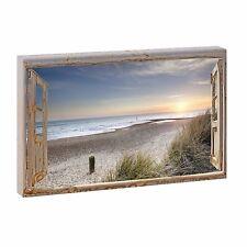 Bild auf Leinwand Fensterblick Nordsee Strand Meer Poster XXL 135 cm*80 cm 500q