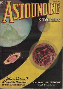 1937 Astounding Stories August - Jupiter Trap; Time Bender; Positrons; Smallpox