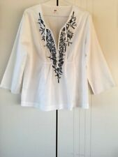 Embroidered Long Sleeve 100% Cotton Tops & Blouses for Women