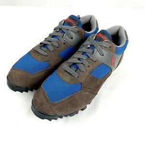 SPECIALIZED Sport Cycling Shoes MTB Brown Suede & Blue Lace Up Size EUR 39