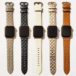 Leather Modern Style Design Band for Apple Watch Series 6, 5, 4, 3, 2, 1