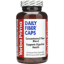 Yerba Prima DAILY FIBER CAPS 625 mg - 180 capsules DIGESTIVE HEALTH