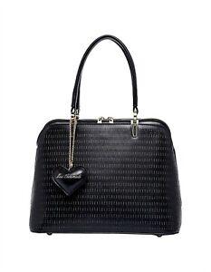 Serenade Designer Ashlyn Vegan Leather Women's Handbag XB-8137 Black