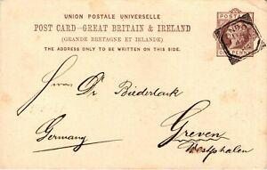 GP GOLDPATH: GREAT BRITAIN POSTAL CARD 1884 _CV698_P19