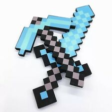 Minecraft Diamond Sword, Pickaxe, Axe, Hoe. Model 45 cm. Christmas gift